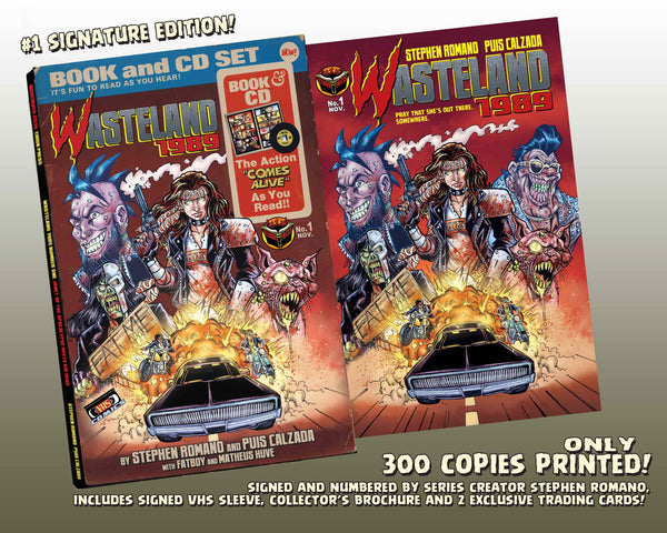 Wasteland 1989 Issue #1 Signature Edition! Includes Soundtrack CD, Signed VHS Box and 2 Exclusive Trading Cards! - Only 300 Copes!