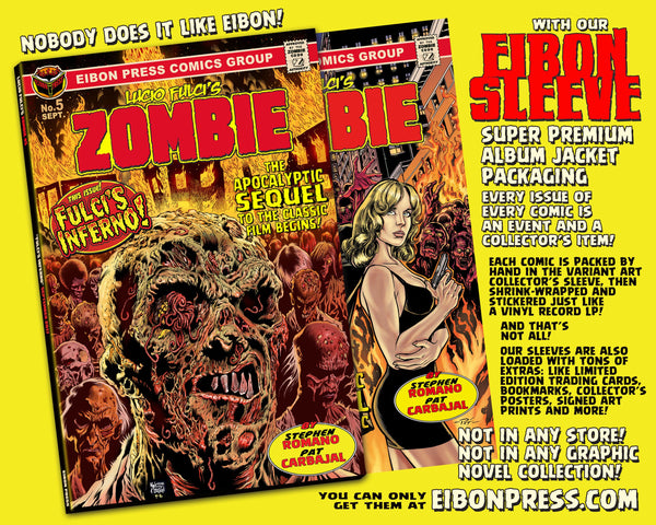 LUCIO FULCI'S ZOMBIE ISSUE #5: Zombie vs Shark Flash Back Poster Edition! - SIGNED