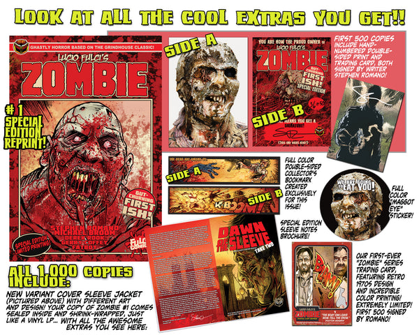 LUCIO FULCI'S ZOMBIE #1 SPECIAL EDITION REPRINT - 500 Signed and Numbered!