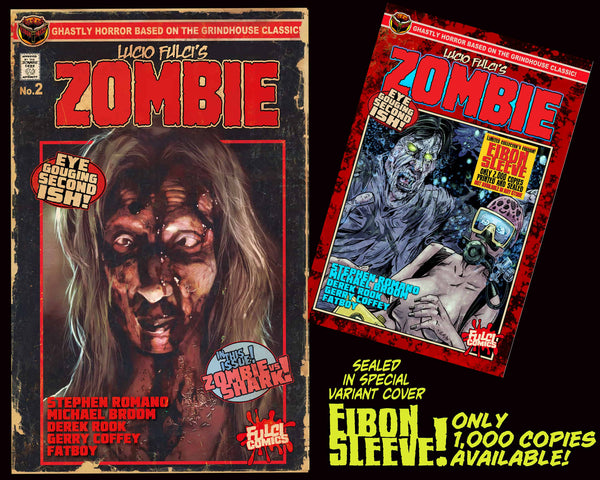 LUCIO FULCI'S ZOMBIE #2 With EIBON SLEEVE-Unsigned Edition Only 1000!