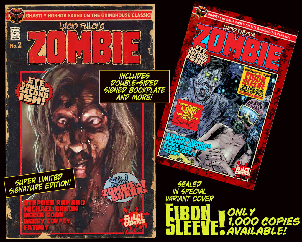 LUCIO FULCI'S ZOMBIE #2 With EIBON SLEEVE-SIGNED EDITION Only 1,000!