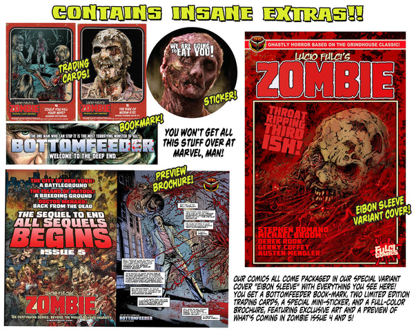 LUCIO FULCI'S ZOMBIE #3 With EIBON SLEEVE-Unsigned Edition Only 1000!