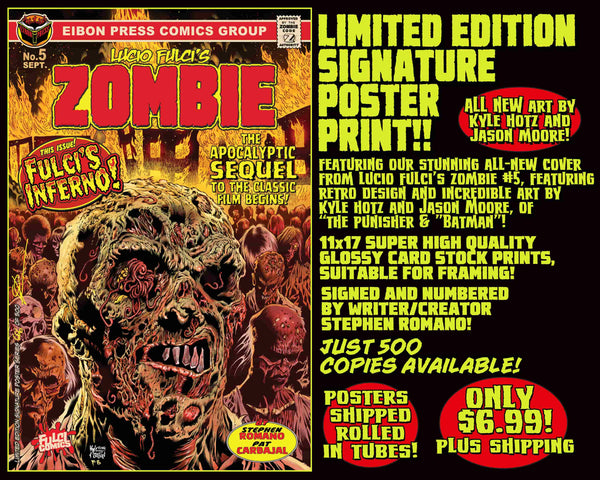 ZOMBIE LIMITED EDITION 11 X 17 POSTER PRINT! Only $6.99