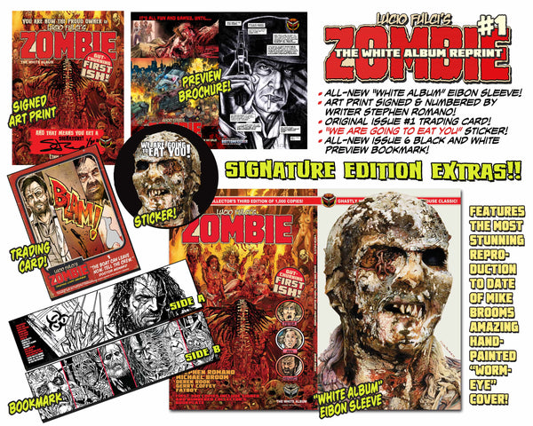 LUCIO FULCI'S ZOMBIE #1 THIRD EDITION REPRINT- SIGNED Edition. Only 300!