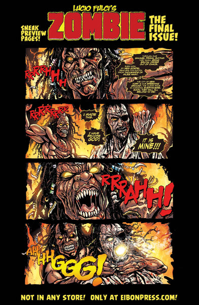 Zombie Issue #8 Standard Sleeved Edition! Exclusive Trading Card! - Only 300 Copies!