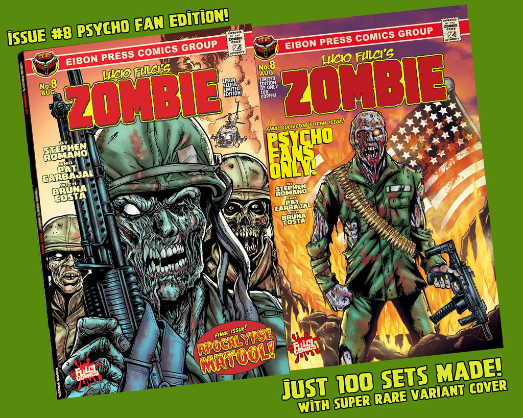 Zombie Issue #8 Psycho Edition! 4 Comic Set Including 150-Page Script Book! - Only 100 Copies!