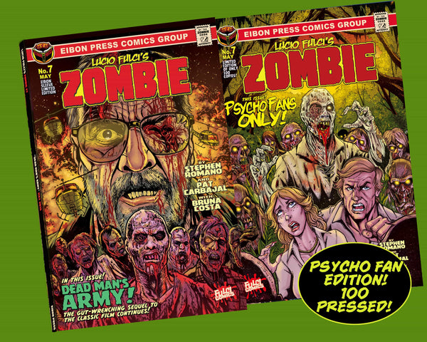 Zombie Issue #7 Psycho Edition! 4 Comic Set Including Script Book- Only 100 Copies!