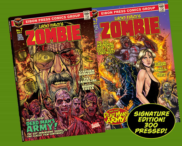 Zombie Issue #7 Signature Sleeved Edition! Exclusive Trading Card & Sticker- Only 300 Copies!
