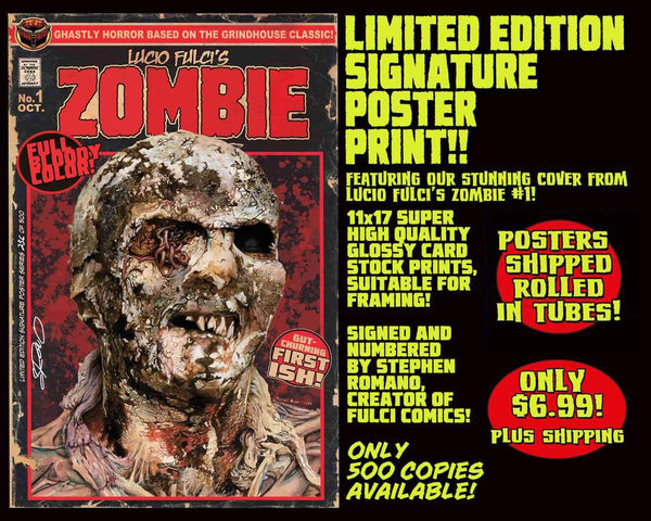 ZOMBIE LIMITED EDITION 11 x 17 POSTER PRINT! Only $6.99!