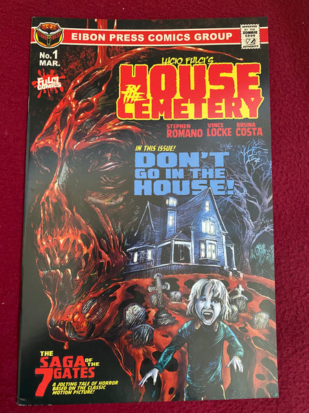 House By The Cemetery Issue #1: Factory Damaged Copies. No Sleeve. No Extras.
