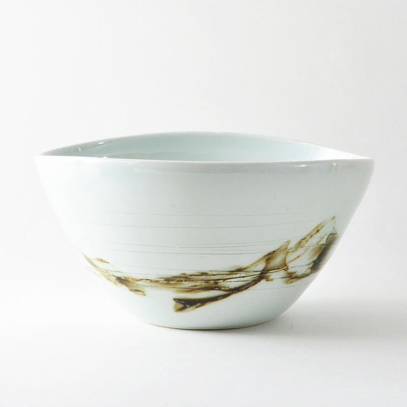 Umber + White Porcelain Bowl