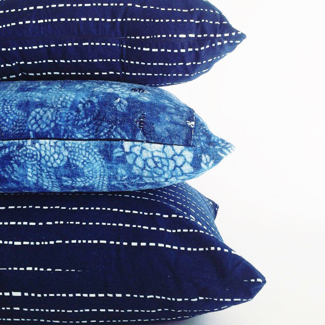 Nankeen Indigo Dash Pillow