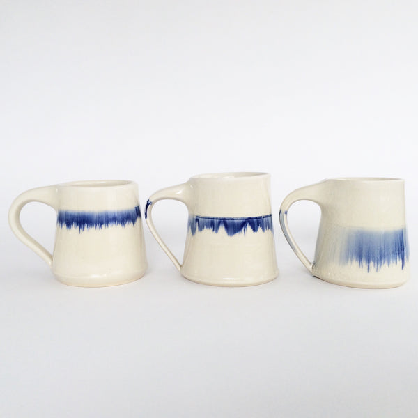 Indigo Stripe Ceramic Mug
