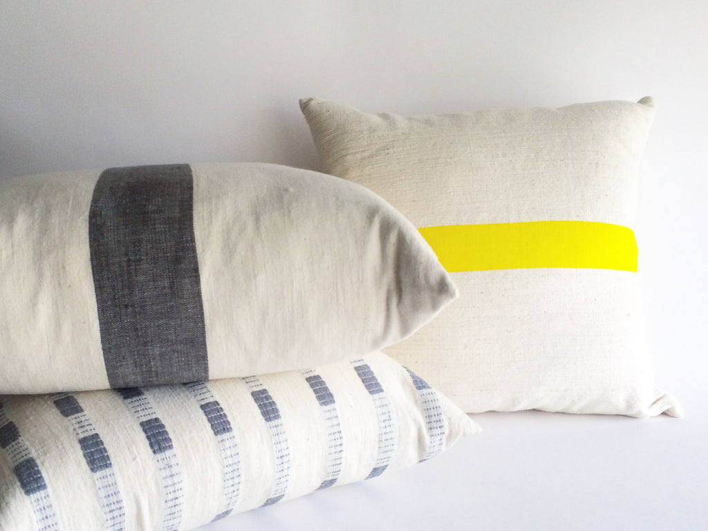 Bertu Grey Dash Pillow