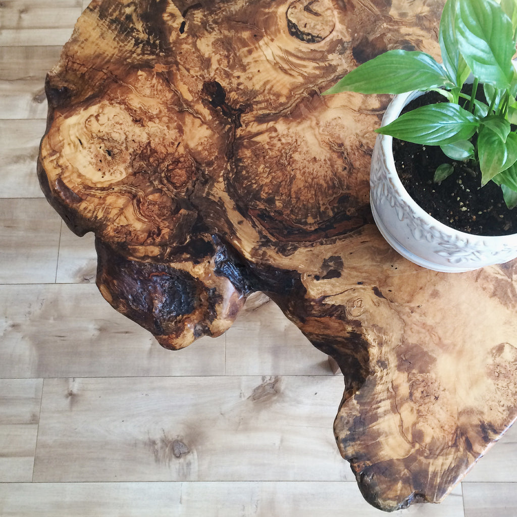 Custom Burled Maple Side Table