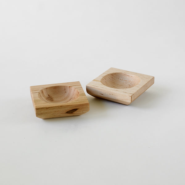 Handmade maple wood pinch bowls set of 2