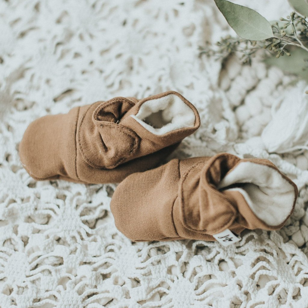 Bamboo + Fleece Baby Booties