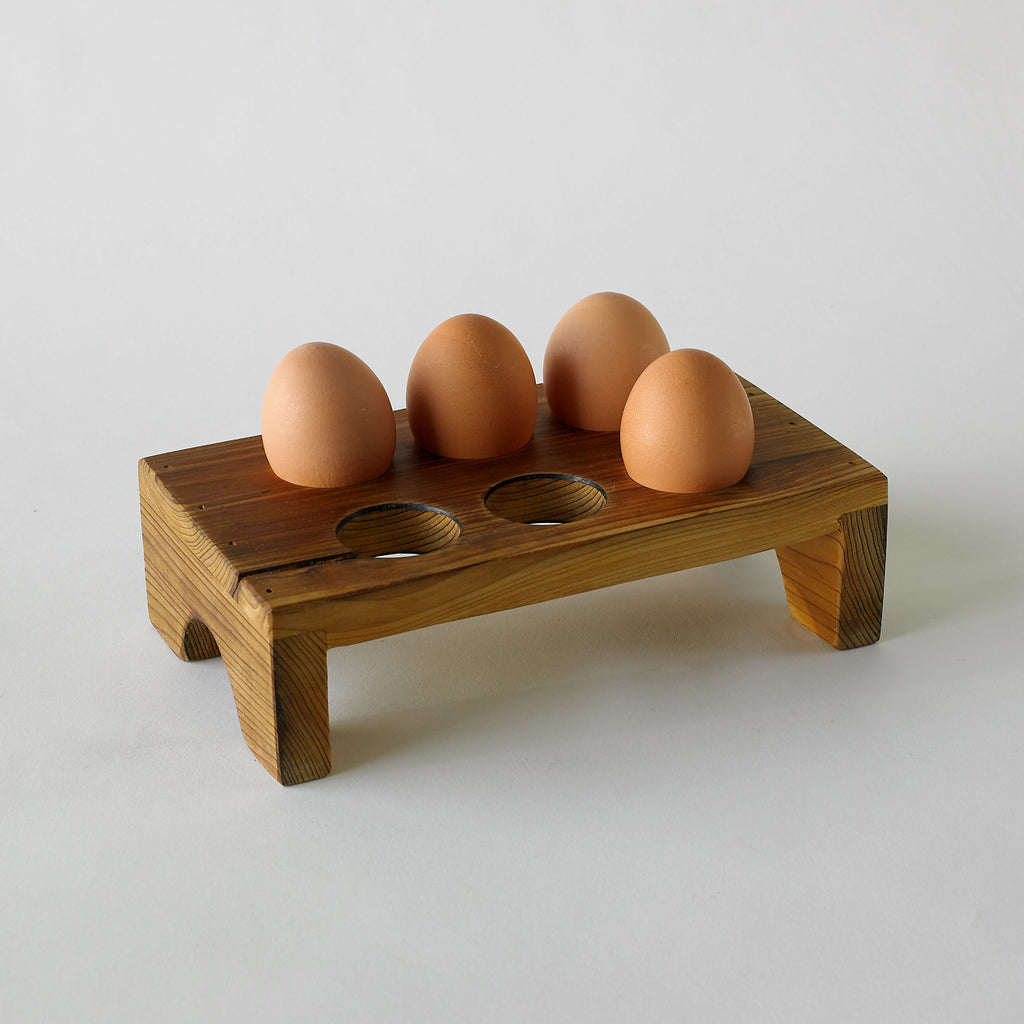 Handmade wood aldermere egg tray