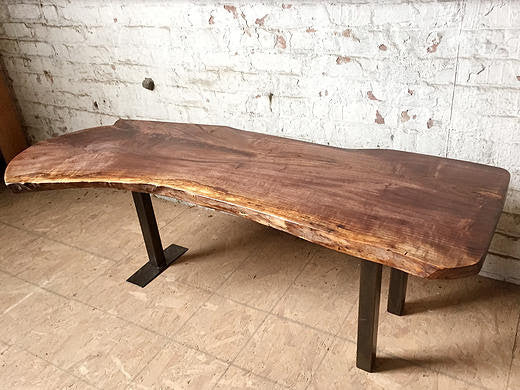 Walnut Steel Leg Coffee Table