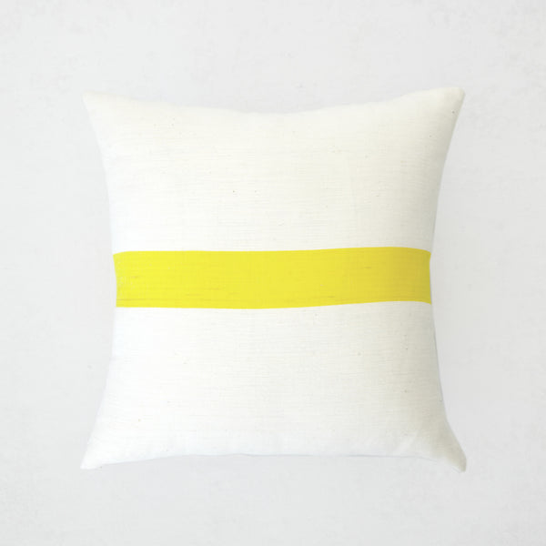 Drimia Yellow Stripe Pillow