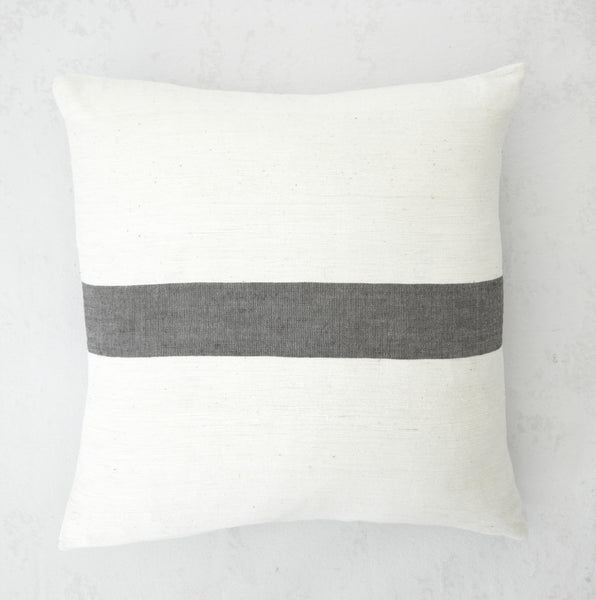 Zelalem Grey Stripe Pillow