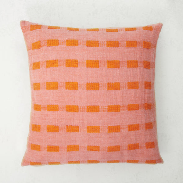 Coral Dash Pillow
