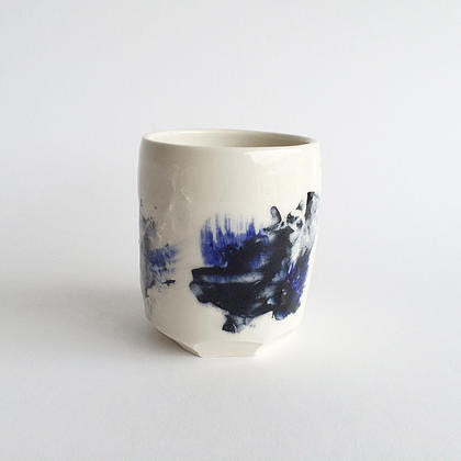 Blue + White Porcelain Tumbler