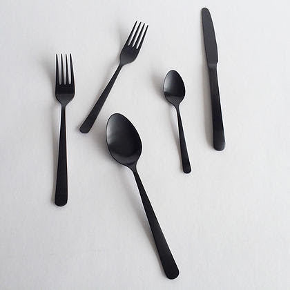 Oslo Black Utensils