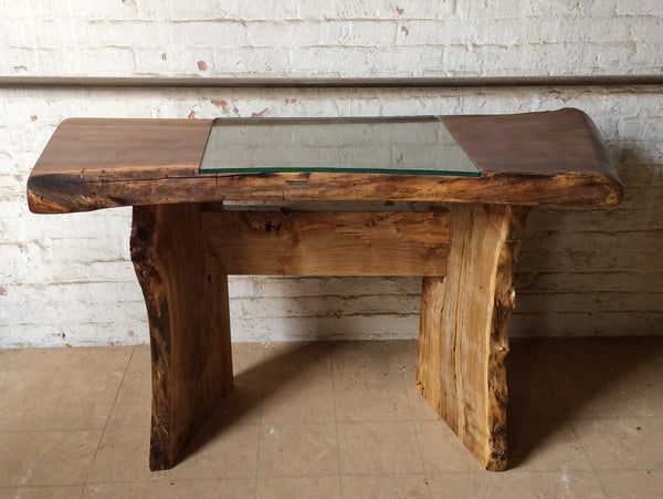 Walnut + Glass Desk