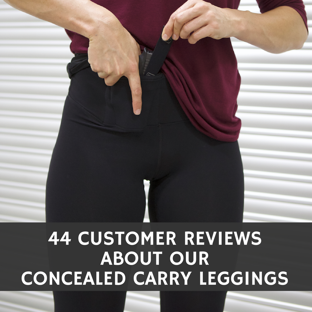 44 Customer Reviews About Our Concealed Carry Leggings