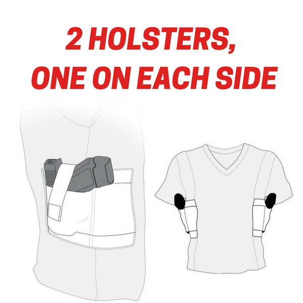 9c0ee4337e241 The World s best Concealed Carry Shirt. Fits you and your handgun like a  second skin. Holsters on each side for left-hand carry and right-hand carry.