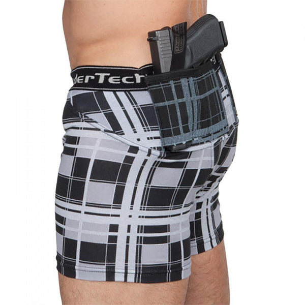 Mens Concealed Carry Plaid Boxer-Briefs - Undertech Undercover
