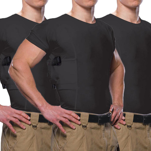 Men's Concealed Carry Crew Neck Tee Multi-Pack - Undertech Undercover