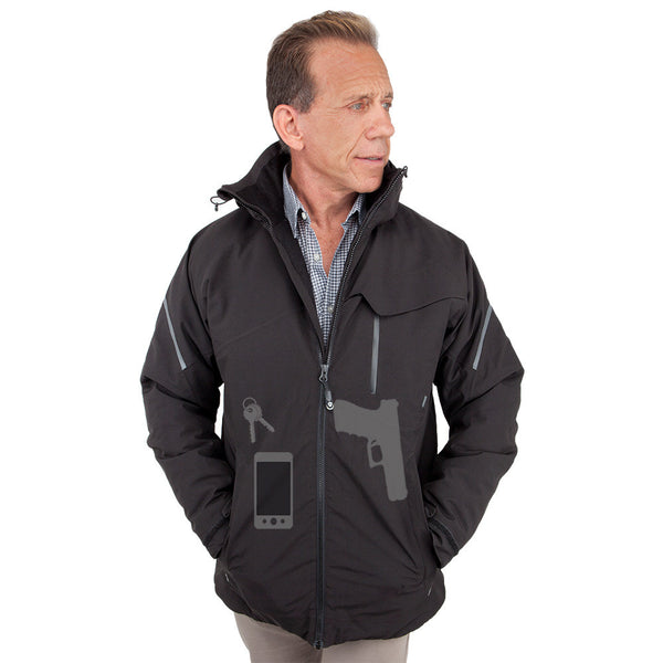 Men's Concealed Carry Caliber Elite Parka - Undertech Undercover