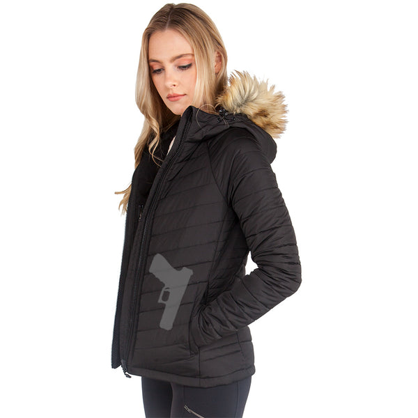 Women's Concealed Carry Alpine Faux Fur Jacket - Undertech Undercover