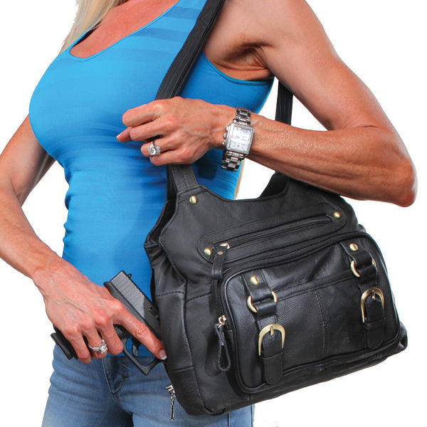 Double Strap Leather Purse - Undertech Undercover