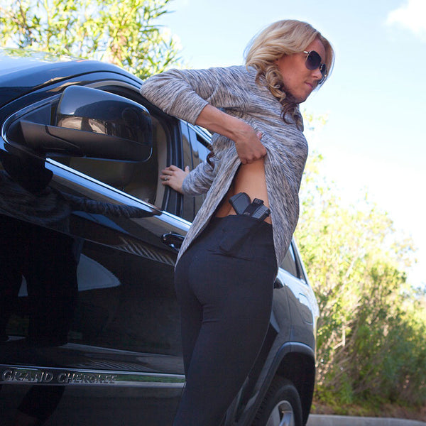 Womens Concealed Carry Original Leggings Crop Length - Undertech Undercover