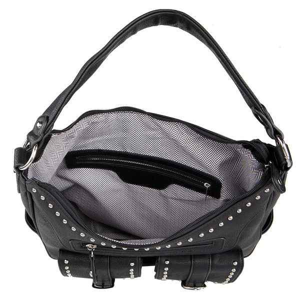 The Jacqueline Lock & Key Concealed Carry Hobo w/Wallet - Undertech Undercover