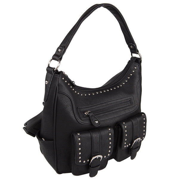 The Jacqueline Lock & Key Concealed Carry Hobo w/Wallet