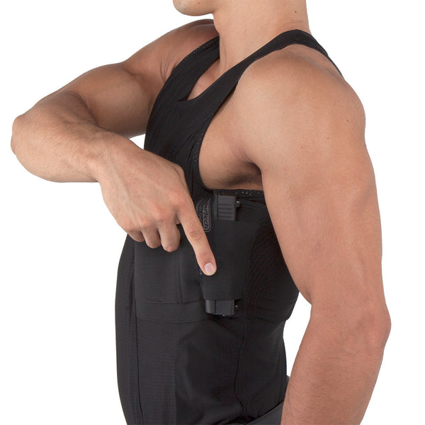 Mens Concealed Carry Coolux Mesh Tank - Undertech Undercover