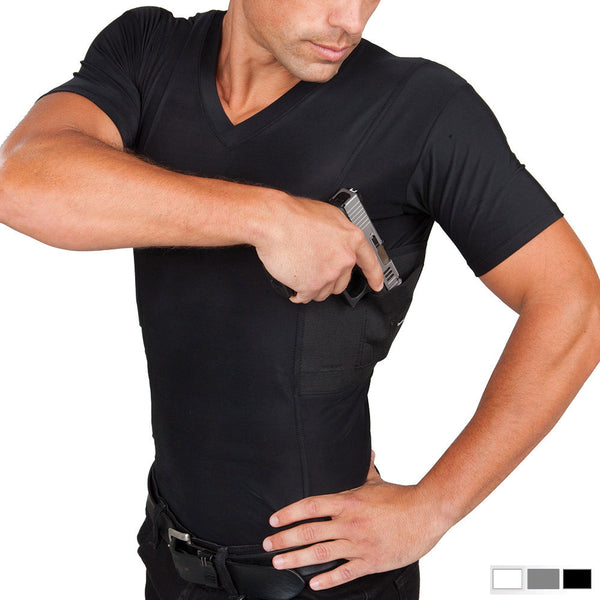 Men's Concealed Carry V-Neck Shirt - Undertech Undercover