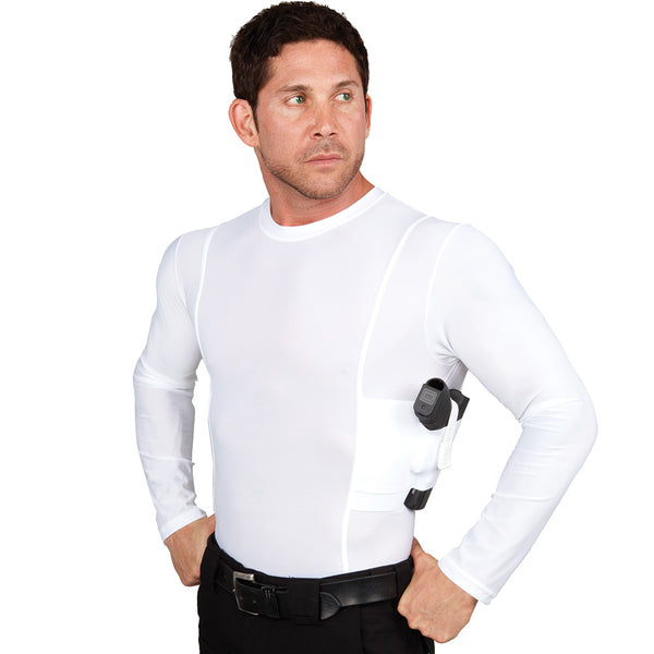 Men's Long Sleeve Concealed Carry Crew Neck Shirt - Undertech Undercover