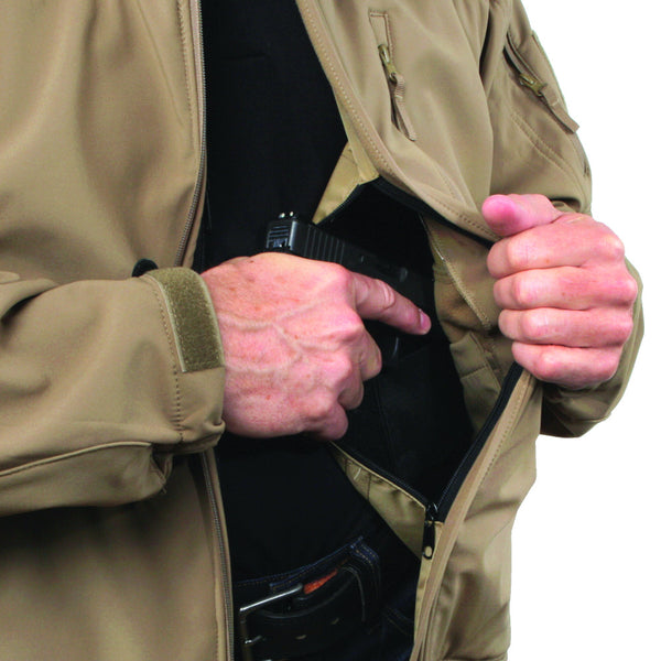 Men's Concealed Carry Tactical Jacket - Undertech Undercover