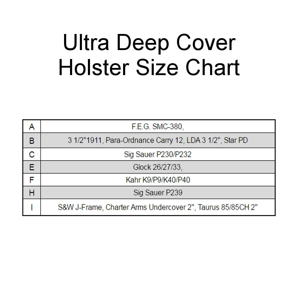 Ultra Deep Cover Holster