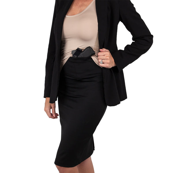 Women's Concealed Carry Pencil Skirt