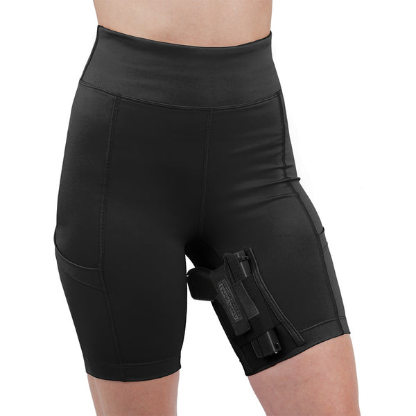 Womens Concealed Carry Thigh Holster Shorts - Undertech Undercover