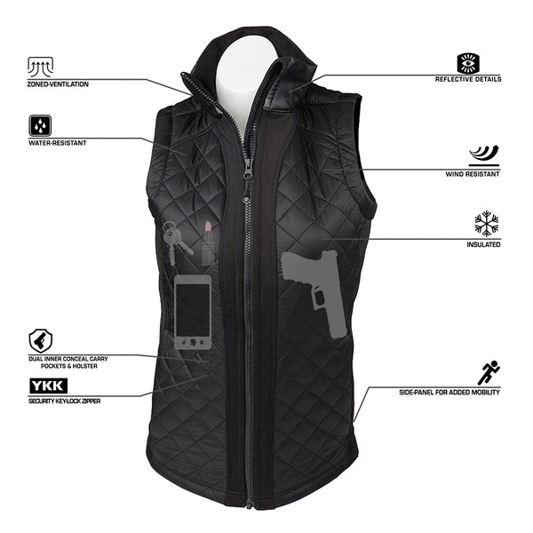 Women's Concealed Carry Crossroads Fitted Vest - Undertech Undercover