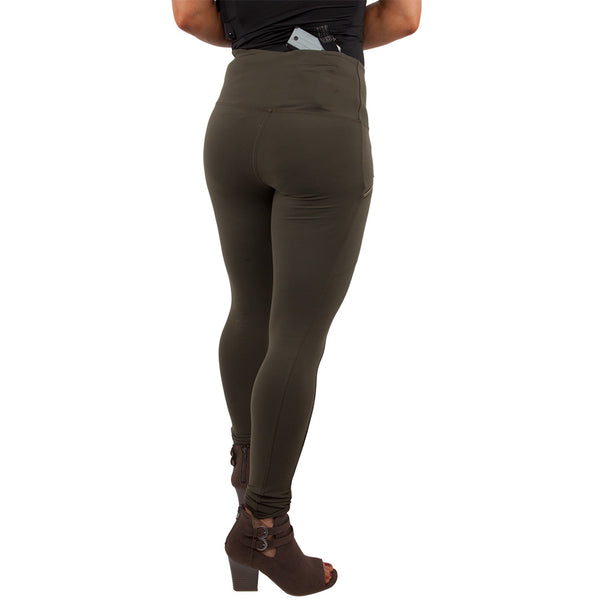 Womens Concealed Carry Zip Pocket Leggings - UnderTech UnderCover