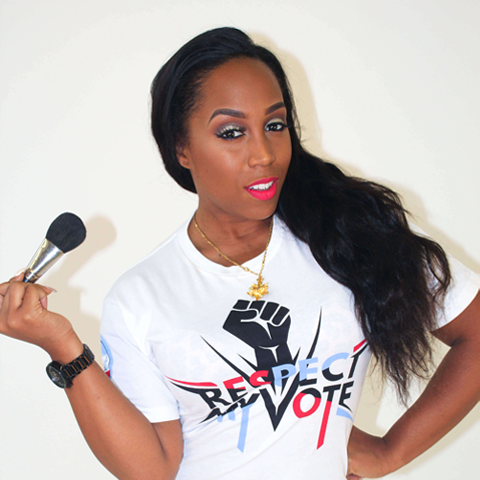 Respect My Vote! Fist White Tee - Women's