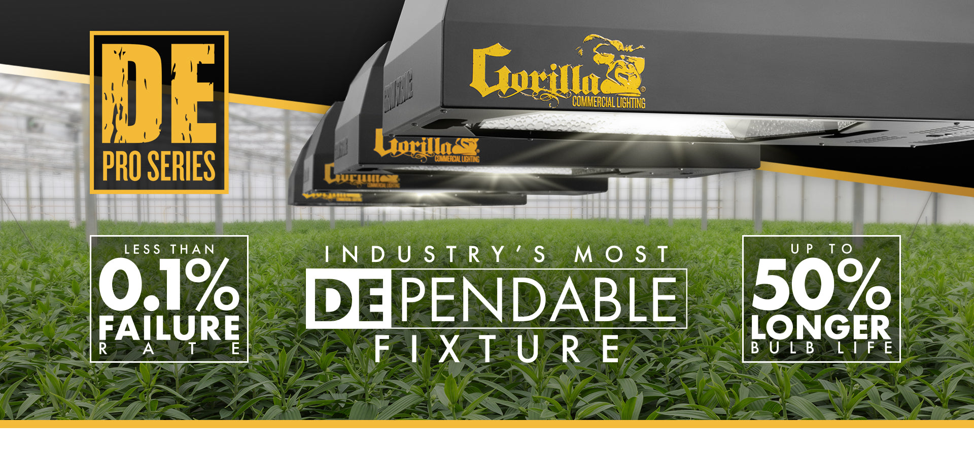 DE Pro Series Commercial Grow Fixture
